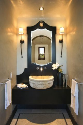 卫生间洗漱台地中海风格装潢图片