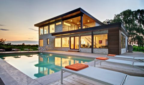 花园泳池现代风格装修效果图