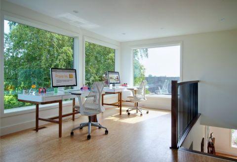 书房书桌现代风格装修图片