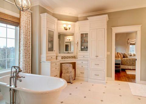 浴室浴缸混搭风格装饰效果图