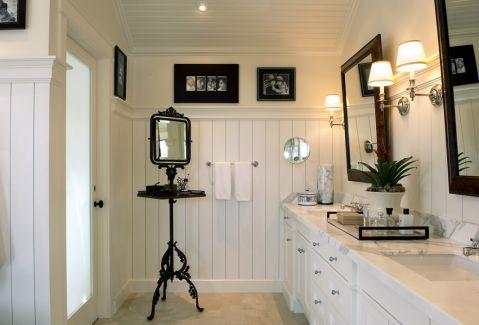 浴室混搭风格效果图大全2017图片_土拨鼠唯美沉稳浴室混搭风格装修设计效果图欣赏
