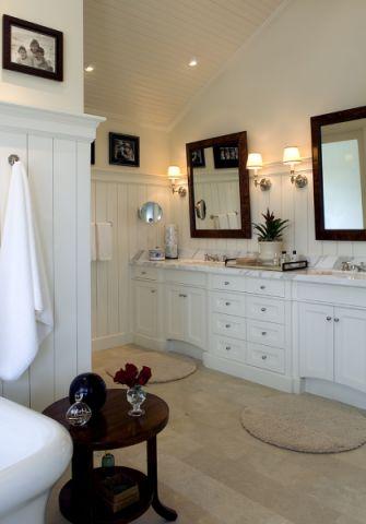 浴室背景墙混搭风格装潢图片