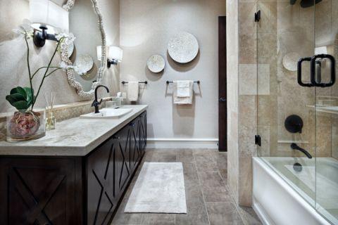 浴室背景墙地中海风格装饰效果图