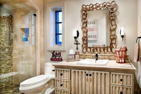 浴室隔断地中海风格装修图片