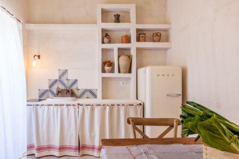 厨房背景墙地中海风格装潢图片