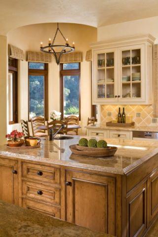 厨房吊顶地中海风格装潢图片