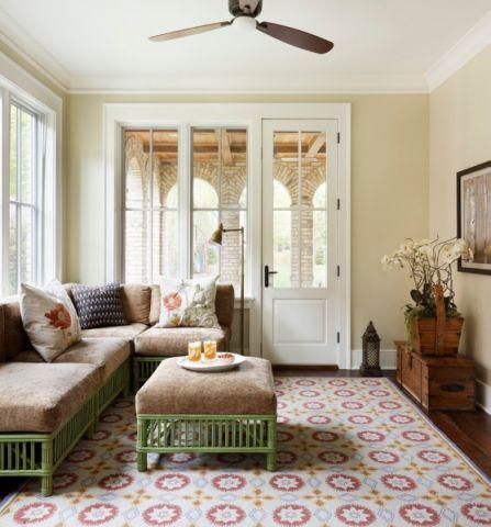 起居室沙发美式风格装饰效果图