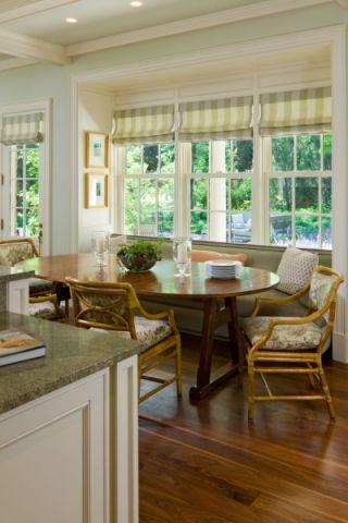 餐厅窗帘美式风格装潢效果图