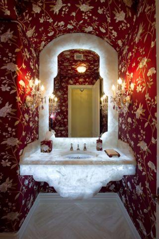 浴室背景墙混搭风格效果图