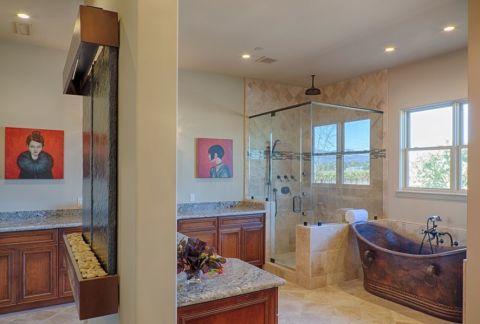 浴室隔断地中海风格装饰图片