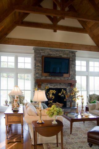 客厅茶几美式风格装修设计图片