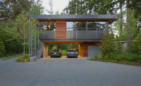 车库地砖现代风格装修设计图片