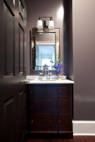 卫生间洗漱台混搭风格装潢效果图