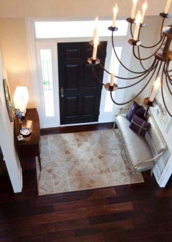 玄关地板砖混搭风格装饰设计图片