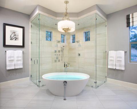 浴室浴缸现代风格装饰设计图片