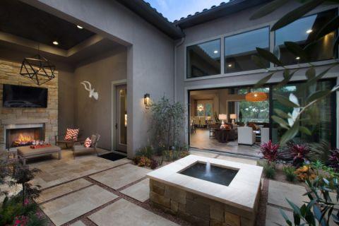 阳台地砖现代风格装潢效果图