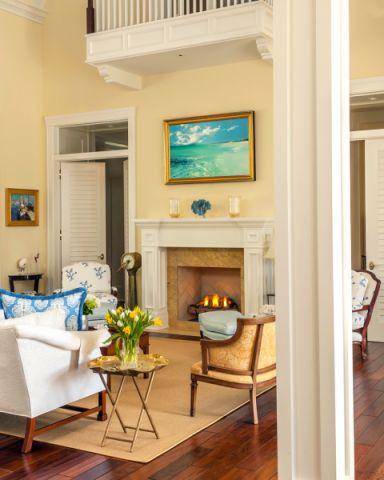 客厅地板砖美式风格装饰图片