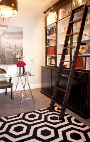 书房背景墙现代风格装修设计图片