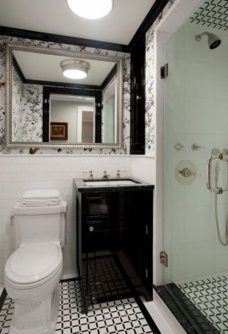 浴室洗漱台美式风格装饰图片