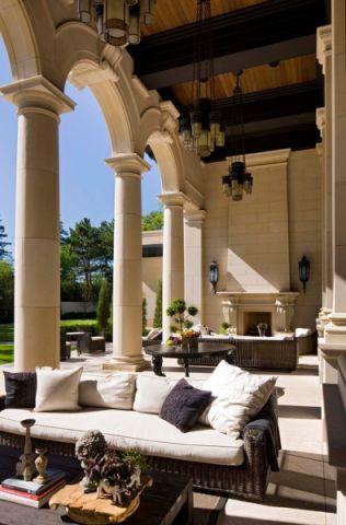 阳台沙发地中海风格装饰设计图片