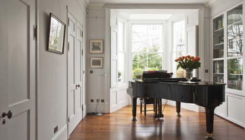 客厅地板砖现代风格装饰设计图片