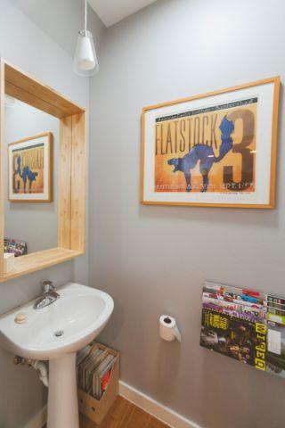 卫生间背景墙混搭风格装饰设计图片