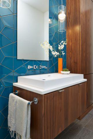 卫生间洗漱台现代风格装修效果图