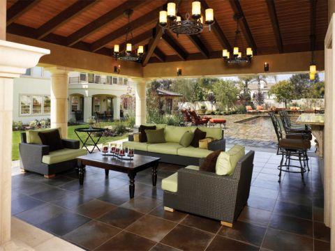 300平米庭院地中海风格装修图片