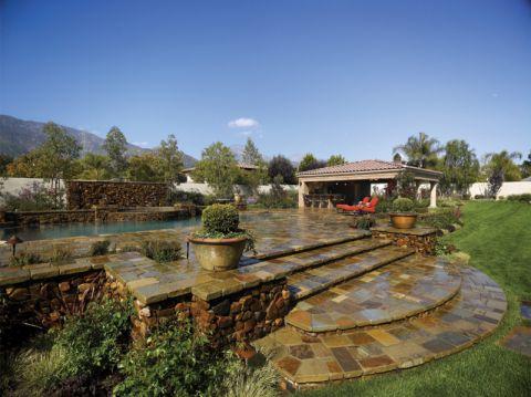 花园地砖地中海风格装潢效果图