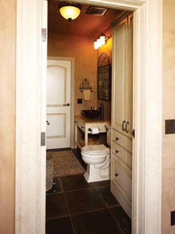 浴室洗漱台地中海风格装修图片
