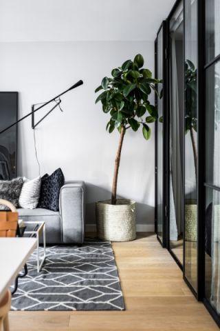 客厅地板砖北欧风格装潢图片