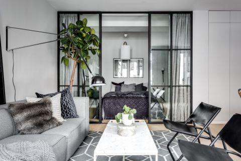 客厅茶几北欧风格装修设计图片