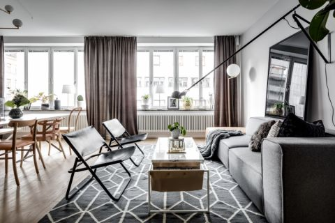 104平米公寓北欧风格装修图片