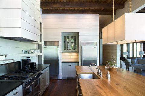 厨房厨房岛台混搭风格装潢效果图