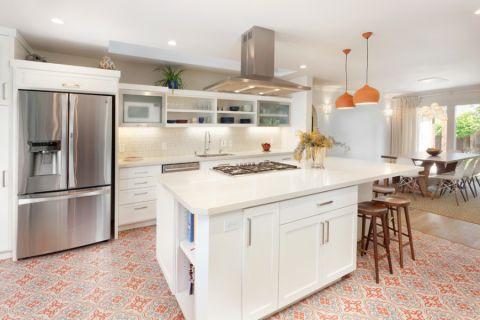 厨房厨房岛台美式风格装饰效果图