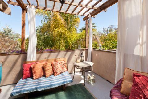 阳台窗帘美式风格装修图片