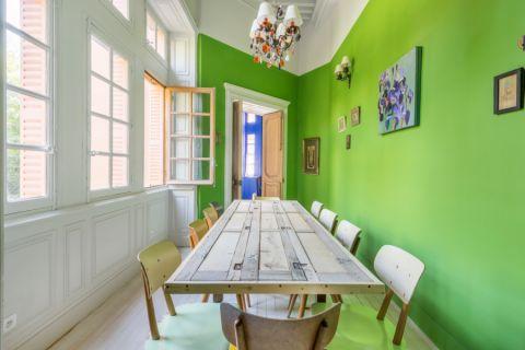 餐厅照片墙地中海风格装饰图片