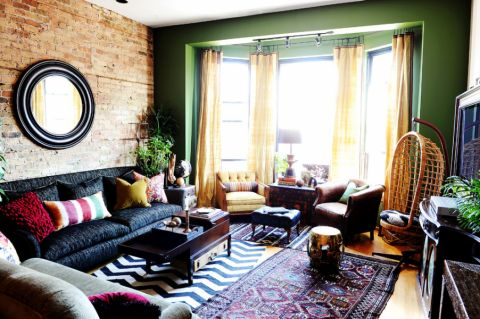 87平米三居室混搭风格装修图片