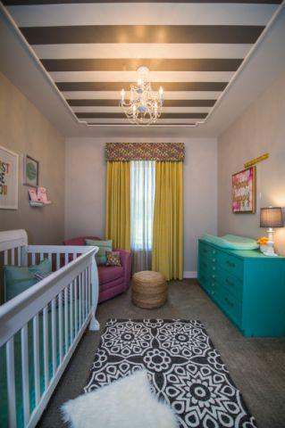 儿童房窗帘混搭风格装修效果图