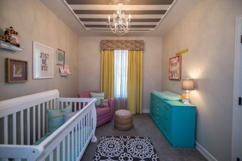 儿童房吊顶混搭风格装饰效果图