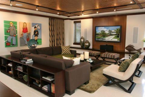 116平米三居室现代风格装修图片