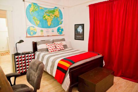 72平米三居室混搭风格装修图片
