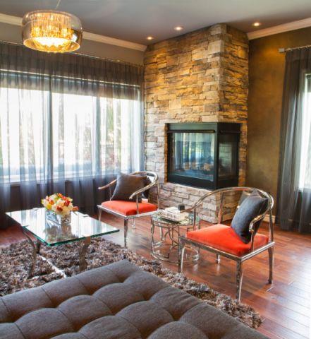 客厅地板砖混搭风格装修效果图
