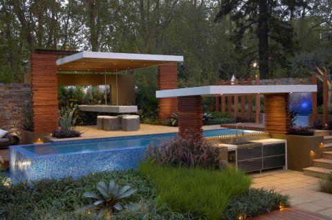现代风格庭院201平米装修图片