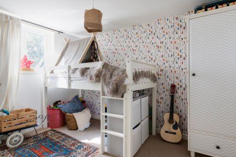儿童房窗帘混搭风格装修设计图片