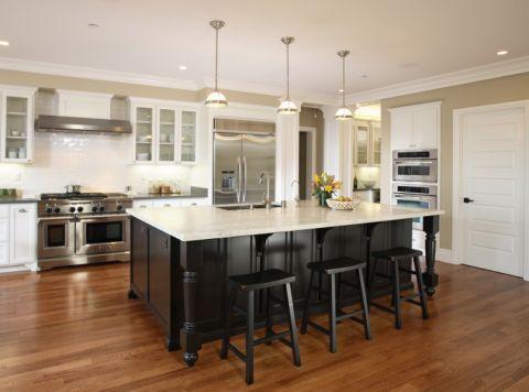 厨房地板砖美式风格效果图