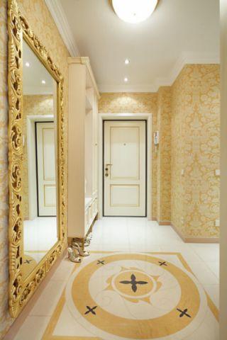 玄关地砖美式风格装饰图片