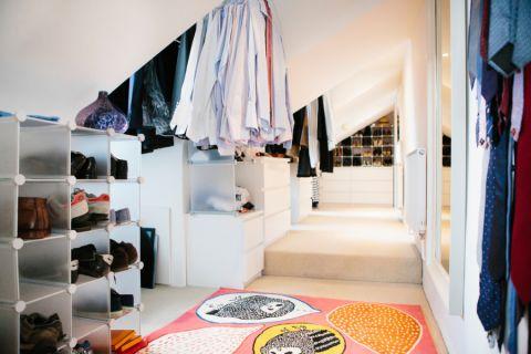 衣帽间鞋柜美式风格装潢设计图片