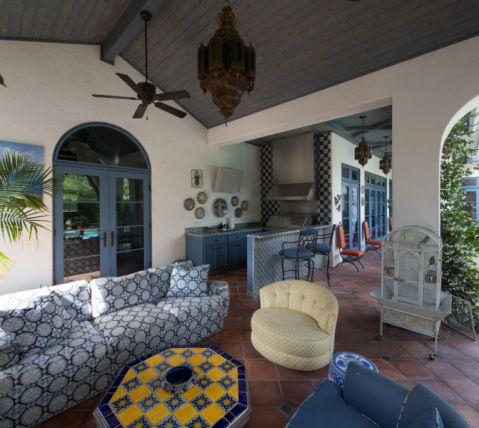 阳台茶几地中海风格装修效果图