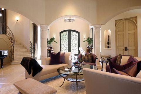 客厅茶几地中海风格效果图